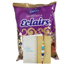 Check out our New Product  Eclairs Pack And Rakhi No Flower COD Pack of Eclairs Toffees  100 piece, along with One Rakhi and Roli Chawal.  Rs.549