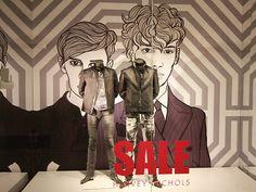 """Harvey Nichols, London, England, """"Menswear SALE Now On"""", pinned by Ton van der Veer"""