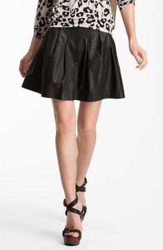19a26fbf729 Rebecca Taylor Full Leather Skirt