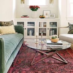 Floriana Lima's living room by Ginny Macdonald. Love the soft green Fabienne sofa from Lulu & Georgia Living Room Decor Traditional, Rugs In Living Room, Living Room Decor, Furniture, Eclectic Living Room, Craftsman Living Rooms, Living Room Shop, Moroccan Decor Living Room, Dream Living Rooms