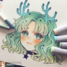 Learn To Draw Manga - Drawing On Demand Copic Drawings, Kawaii Drawings, Cute Drawings, Art Anime, Anime Art Girl, Anime Girls, Copic Marker Art, Copic Art, Manga Drawing