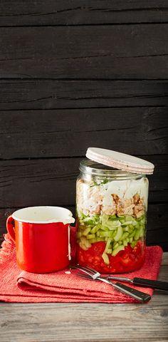 Brathähnchen-Schichtsalat