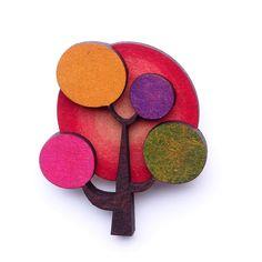 Lollipop Tree Brooch - hug Me Harry - hardtofind.