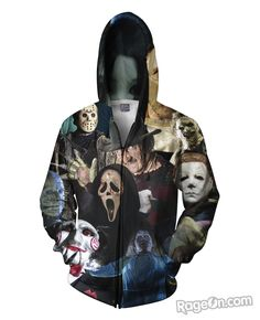 2017 Harajuku Couples hoodies full print horror Halloween Devil/shark/Zombie Sweatshirt hoody Outerwear plus size tracksuit Hoodie Sweatshirts, Fleece Hoodie, Hoodie Jacket, Sweater Hoodie, Walking Dead Funny, The Walking Dead, Zayn Malik, Grunge, Harajuku