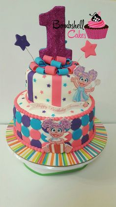 I Hope Brielle Loves Sesame St When She Turns This Would Be - Elmo and abby birthday cake