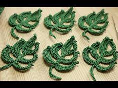 Вязание объёмного ЛИСТИКА крючком - Easy To Crochet Leaf - YouTube