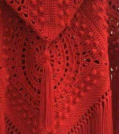 Crochet Poncho, Diy Crochet, Crochet Top, Irish Lace, Crochet Clothes, Diy And Crafts, Cover Up, Knitting, Red