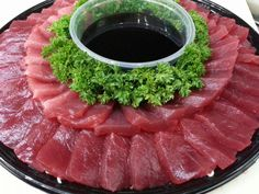 Ahi Sashimi Platter from Nico's Pier 38 Sushi Love, My Sushi, Sushi Recipes, Asian Recipes, Cooking Recipes, Sushi Donuts, Sushi Burger, Sashimi Sushi, Sushi Party
