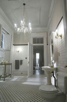 Bathroom from the Buckner Mansion which featured in AHS Coven.