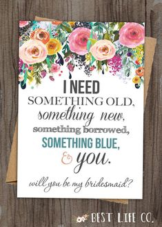 """Set of Will You Be My Bridesmaid """"The Rosie"""" Maid of Honor/Matron of Honor/Flower Girl Files(4 Included) DIY Wedding Custom Something Blue"""
