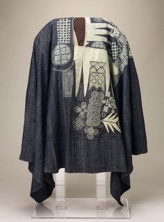 Man's robe (girke, agbada, boubou), Yoruba or Hausa peoples, Nigeria, mid-20th century.