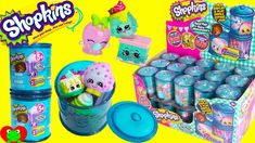 Shopkins Season 4 Food Fair Canisters with 8 Ultra Rare Finds