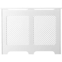 Cache-radiateur Classique en médium (MDF) blanc satiné, 90x119x15 cm | Leroy Merlin