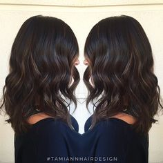My client had a solid brown color when she came in and left with a rich shiny dimensional color #chocolateandcaramel #TamiAnnHairDesign