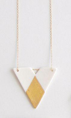 Porcelain Geometric Necklace