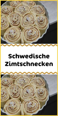 Schwedische Zimtschnecken The whole house smells seductive – these Swedish cinnamon buns are a dream for coffee or tea. Tip: Enjoy while still warm. Easy Cake Recipes, Recipe For 4, Food Cakes, Food Items, Cooking Time, Food And Drink, Easy Meals, Stuffed Peppers, Baking