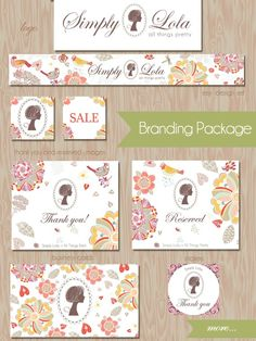 Custom Etsy Branding Package - Custom logo design, Etsy graphics, Business Card, Stickers and more