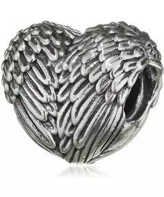 Pandora Stříbrný korálek Andělské srdce 791751