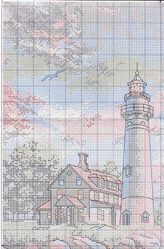 Lighthouse - 2/8 Solo Patrones Punto Cruz | Aprender manualidades es facilisimo.com