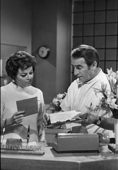 """Steve & Jessie in the early days of """"General Hospital"""" — with Emily McLaughlin and John Beradino. Soap Opera Stars, Soap Stars, Luke And Laura, Hospital Photos, Old Tv Shows, General Hospital, The Good Old Days, Cool Watches, Childhood Memories"""