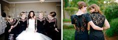 Illusion Neckline & Statement Back Bridesmaid Dresses   SouthBound Bride