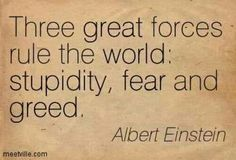 Albert Einstein quote on the human condition whatonearthishapp. Greed Quotes, Wisdom Quotes, Quotes To Live By, Life Quotes, Quotes On Fear, People Quotes, Lyric Quotes, Movie Quotes, The Words