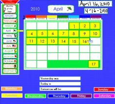 Great #smartboard #calendar wall program  @Paige King, this is what I use daily...I've tweaked it for second grade and the kiddos love it.