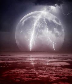Temporais Fascinantes #tempestade #thunderstorm #trovoada #lua
