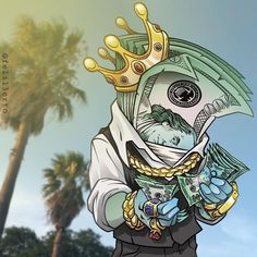 Cash is king until you need credit to move into that new apartment or to buy a car and house. Let us help you. Graffiti Art, Graffiti Drawing, Art Drawings, Graffiti Tattoo, Cartoon Graffiti, Dope Cartoons, Dope Cartoon Art, Trill Cartoon, Arte Do Hip Hop