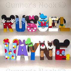15% OFF SALE Mickey Mouse Letters Price Per Letter by GunnersNook