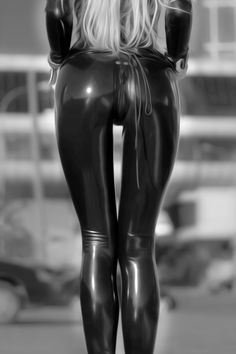 Perfect shiny latex butt