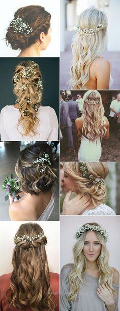 baby breath wedding hairstyles #weddings #hairstyles #hair #weddingideas