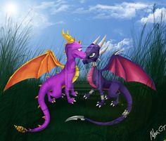 Spyro and Cynder by AlbaCT.deviantart.com on @deviantART