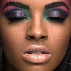 Super makeup looks dark skin colour ideas Flawless Makeup, Love Makeup, Skin Makeup, Beauty Makeup, Makeup Looks, Pretty Makeup, Exotic Makeup, Peach Makeup, Unique Makeup