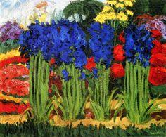 lonequixote:Flower Garden~Emil Nolde