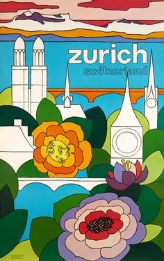 Zurich, Switzerland travel poster (1978).