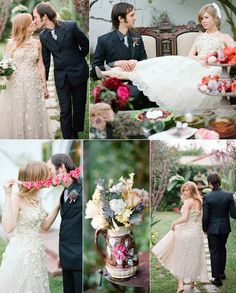 Garden Wedding Ideas - Romantic Alice in Wonderland Inspired Gray Winter Wedding Ideas