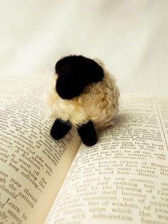 Tiny needle felted sheep