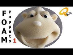 How to make a Foam Puppet - Ana Felt Puppets, Puppets For Kids, Marionette Puppet, Hand Puppets, Diy Arts And Crafts, Crafts For Kids, Diy Crafts, How To Make Foam, Puppet Tutorial