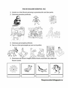 Fisa de evaluare Winter Crafts For Kids, Summer Crafts, Kindergarten Worksheets, Preschool Activities, Coloring For Kids, Coloring Pages, Kids Schedule, Stencil Patterns, Math For Kids