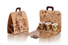 Coffee paper cups carrier