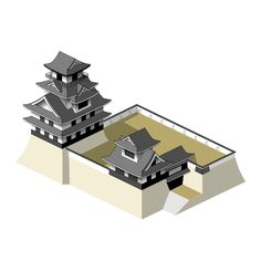"""Single""Japanese castle layout"