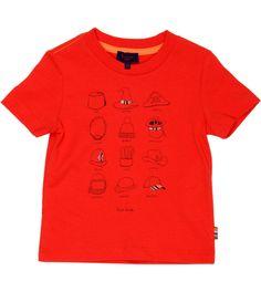 Paul Smith Junior Orange Cotton T-Shirt