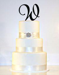 Custom - 5 inch Monogram Acrylic Cake Topper in Any Letter A B C D E F G H I J K L M N O P Q R S T U V W X Y Z