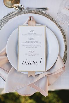 cheers wedding menu