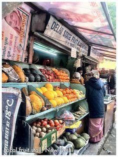 New Delhi fruit and veggie stand.  New Delhi, India  http://www.travelandtransitions.com/destinations/destination-advice/asia/map-of-india-major-destinations/