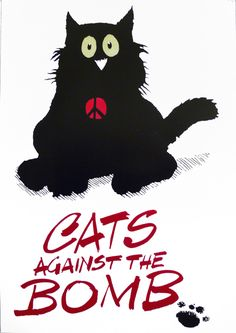 cats against the bomb Poster - CND