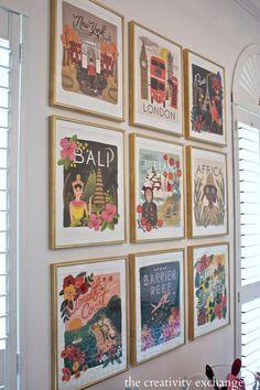 25 Inspiring Gallery Walls | See more at eleganceandenchantment.com