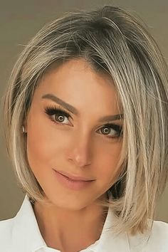 Bob Hairstyles For Round Face, Bob Haircut For Fine Hair, Bob Haircuts For Women, Haircuts For Fine Hair, Hairstyles Thin Hair, Blonde Long Bob Hairstyles, Classic Bob Haircut, Oval Face Hairstyles, Medium Hair Styles