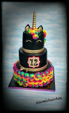 Creative Birthday Cake Ideas for Girls - Motivtorte # - Kuchen Creative Birthday Cakes, Birthday Cake Girls, Unicorn Birthday Parties, Creative Cakes, Unicorn Party, Neon Birthday Cakes, Birthday Ideas, 10th Birthday, Happy Birthday